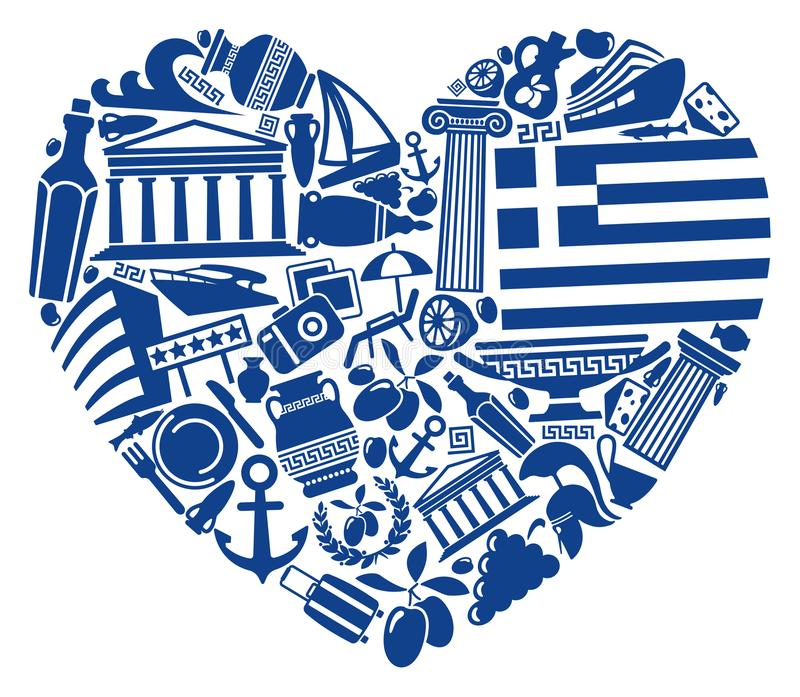 With love to Greece royalty free illustration