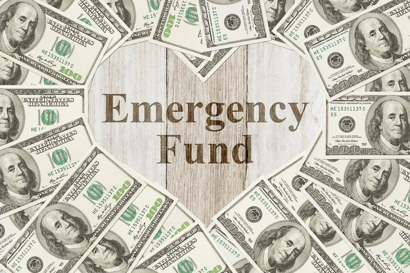 The love to have an emergency fund message royalty free stock photo