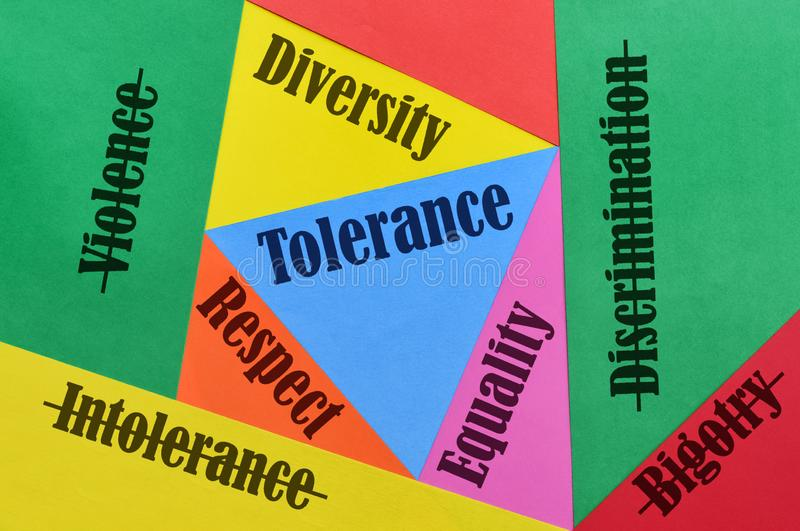 Love and Tolerance stock images