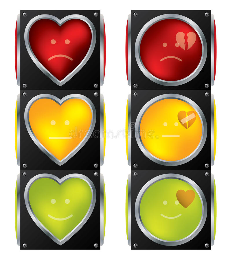 Download Love traffic lights stock vector. Image of danger, transport - 18223695