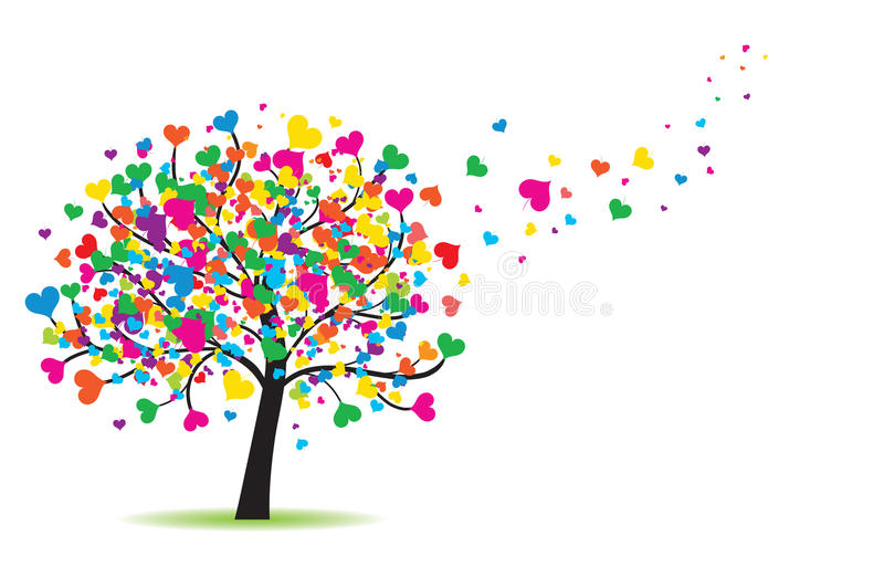 Love tree. High detail illustration of love tree vector illustration