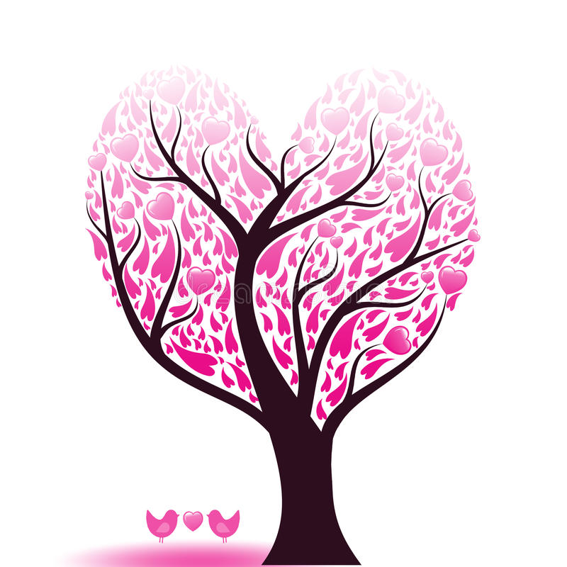 Love tree vector illustration