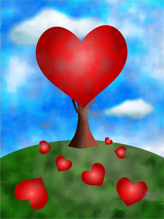 Love tree. Valentine concept illustration royalty free illustration