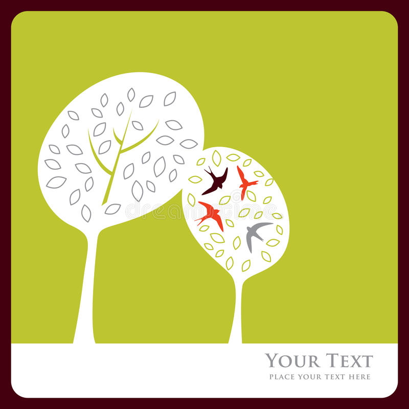 Download Love tree stock vector. Image of pattern, illustration - 9428103