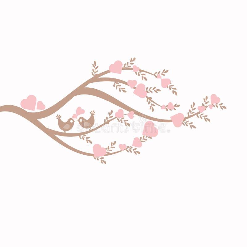 Love Tree vector illustration