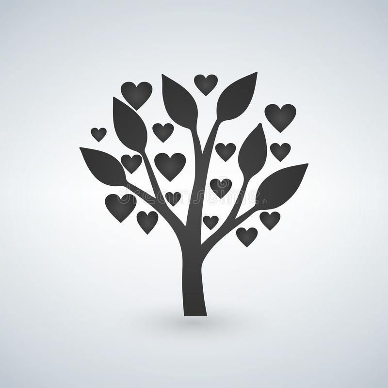 Love tree with heart leaves, valentines day royalty free illustration