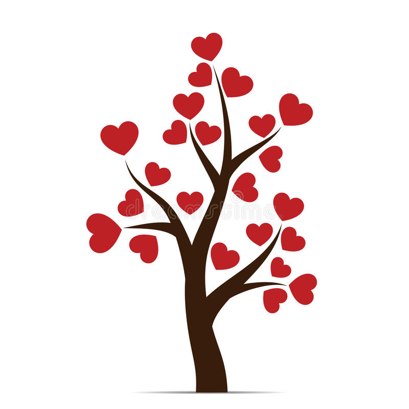 Love tree with heart leaves royalty free illustration