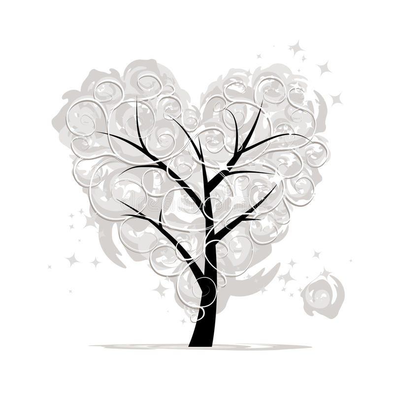 Download Love Tree, Heart Shape For Your Design Royalty Free Stock Images - Image: 28934049