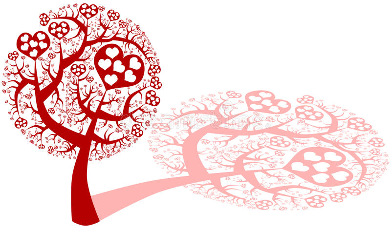Love tree with hearts royalty free stock photography