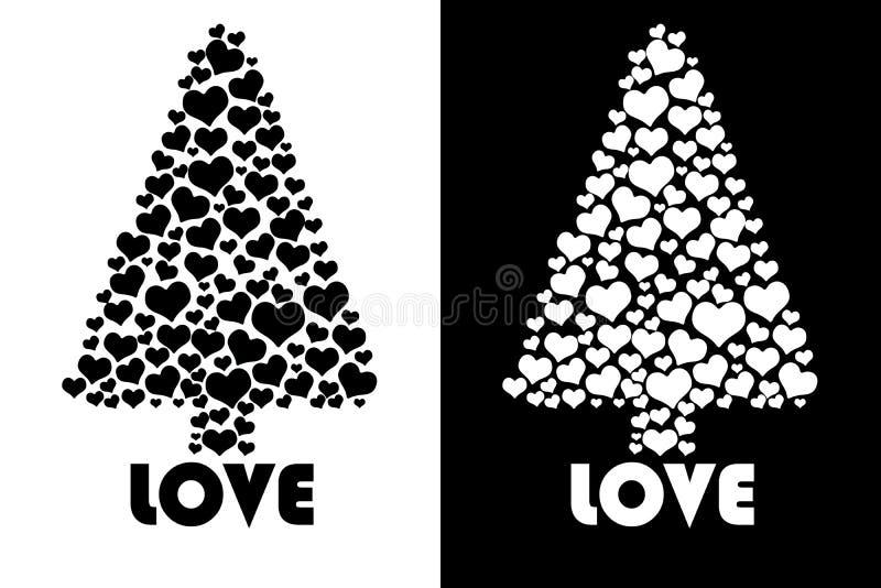 Love tree isolated stock illustration