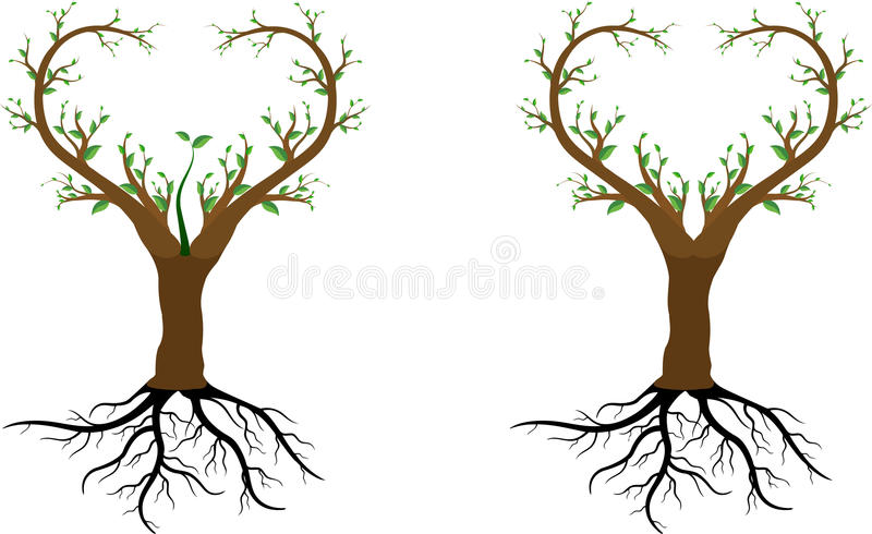 Love tree save us stock illustration