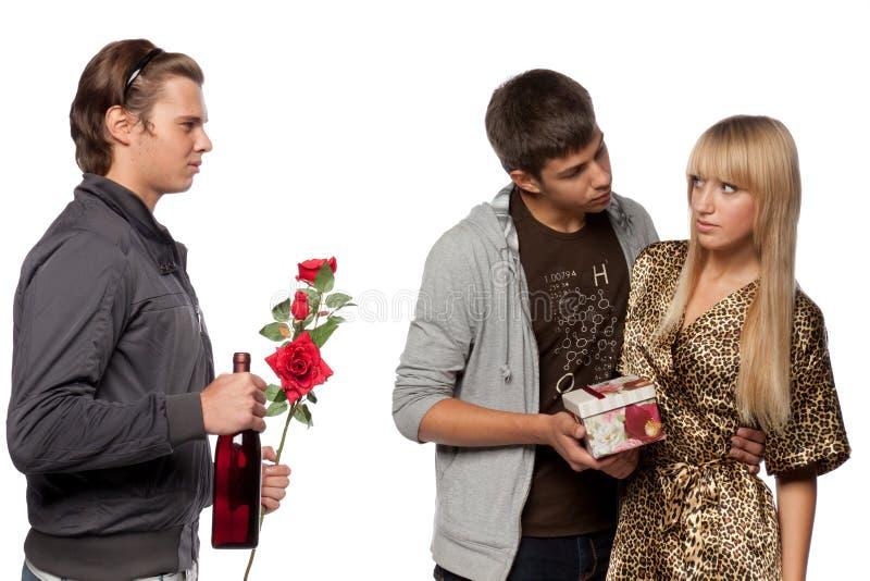 Download Love triangle stock photo. Image of girlfriend, drama - 10753690