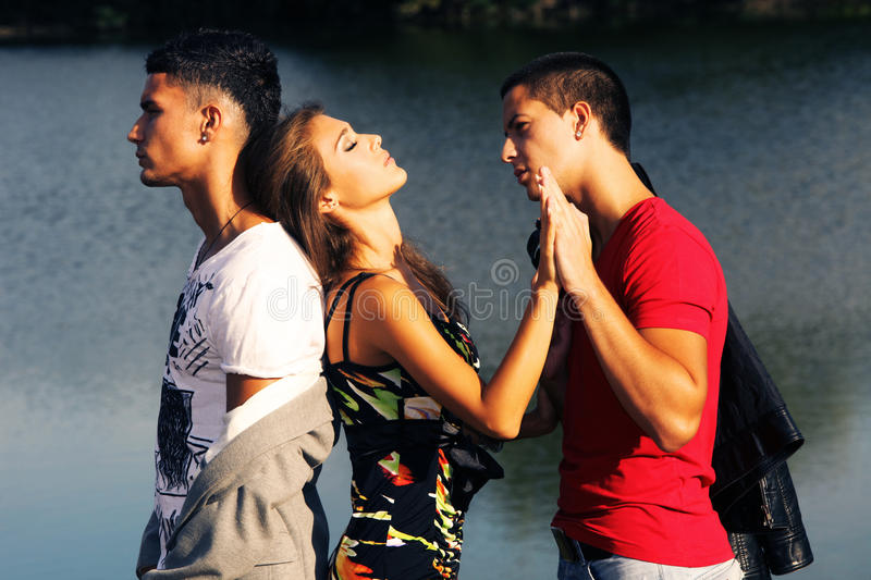 Love triangle royalty free stock images