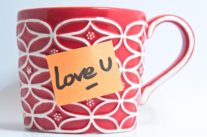 Love U Mug Stock Photography