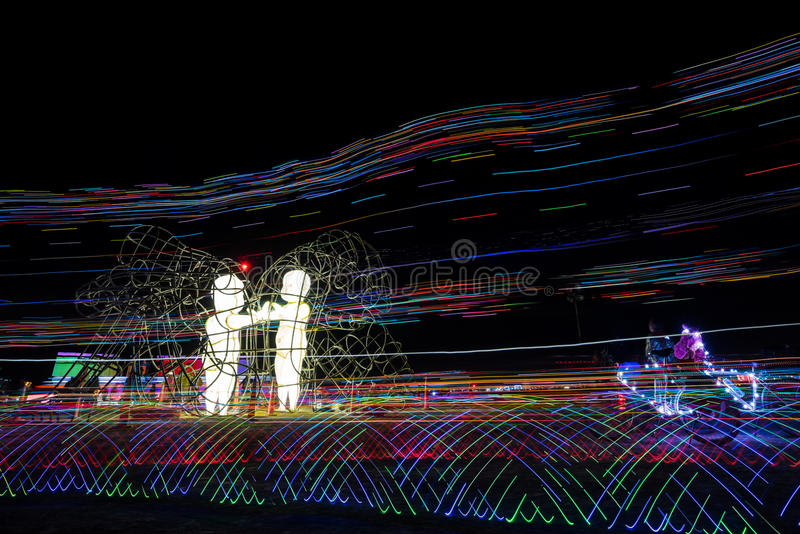 Love by Ukranian sculptor Alexandr Milov at Burning Man 2015 stock photo