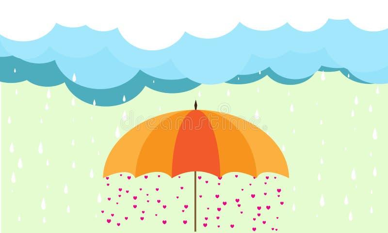 Love in umbrella stock photos