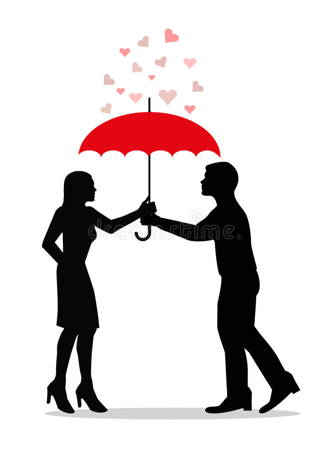 Download Love Under Umbrella Royalty Free Stock Photography - Image: 34900987