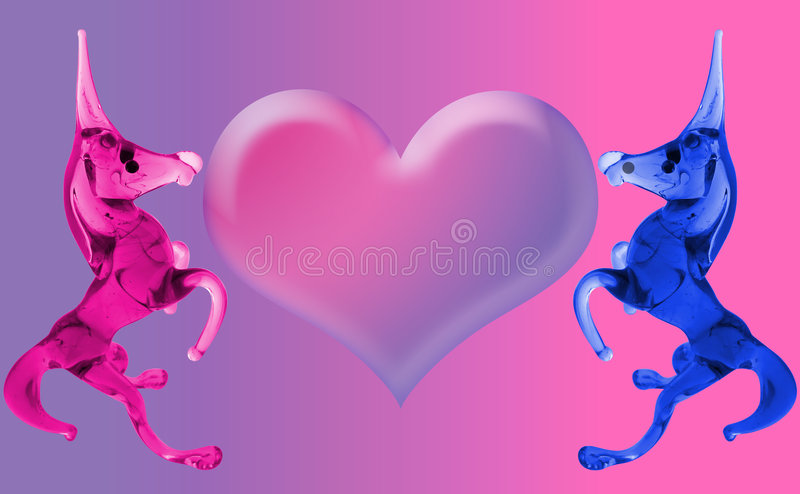 Love Unicorns with the heart. (empty for your sign vector illustration