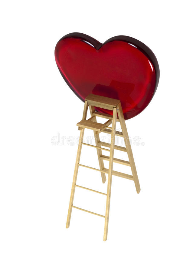 Download Love is an Upward Climb stock photo. Image of ladder - 16200436