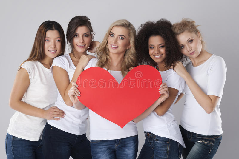 Love from us. Love is in the air stock photos