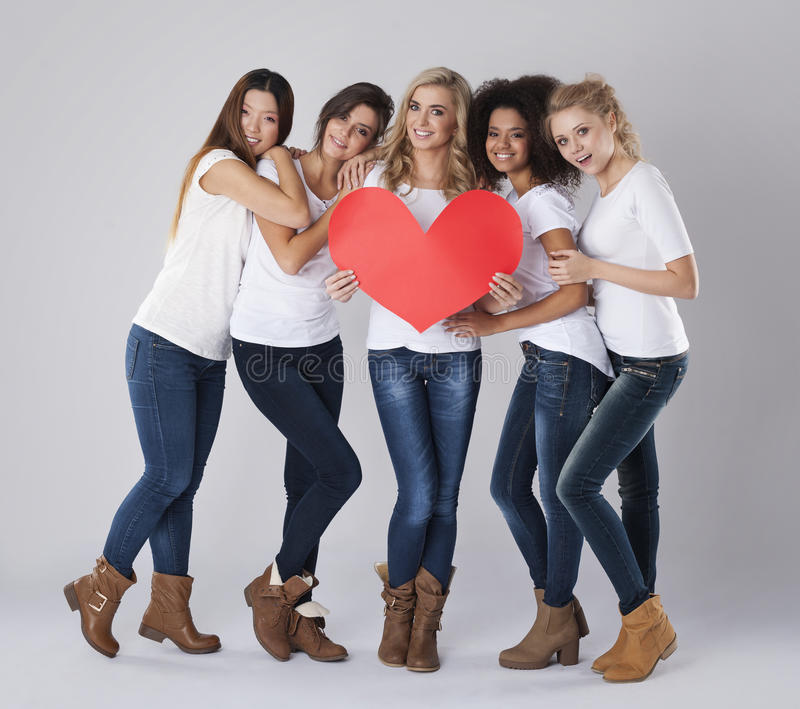 Love from us. Every person deserves to love royalty free stock photography