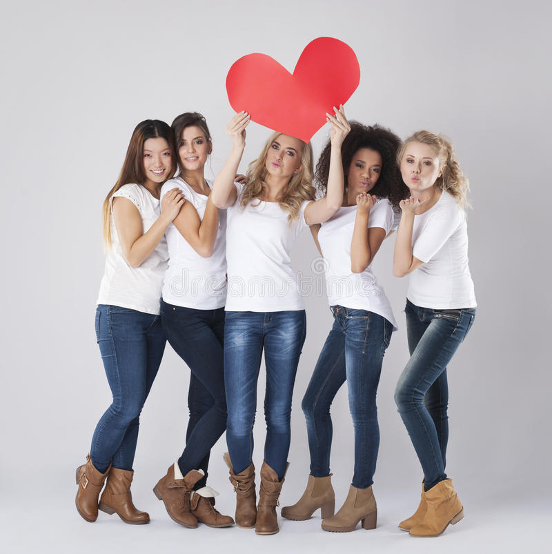 Love from us stock images