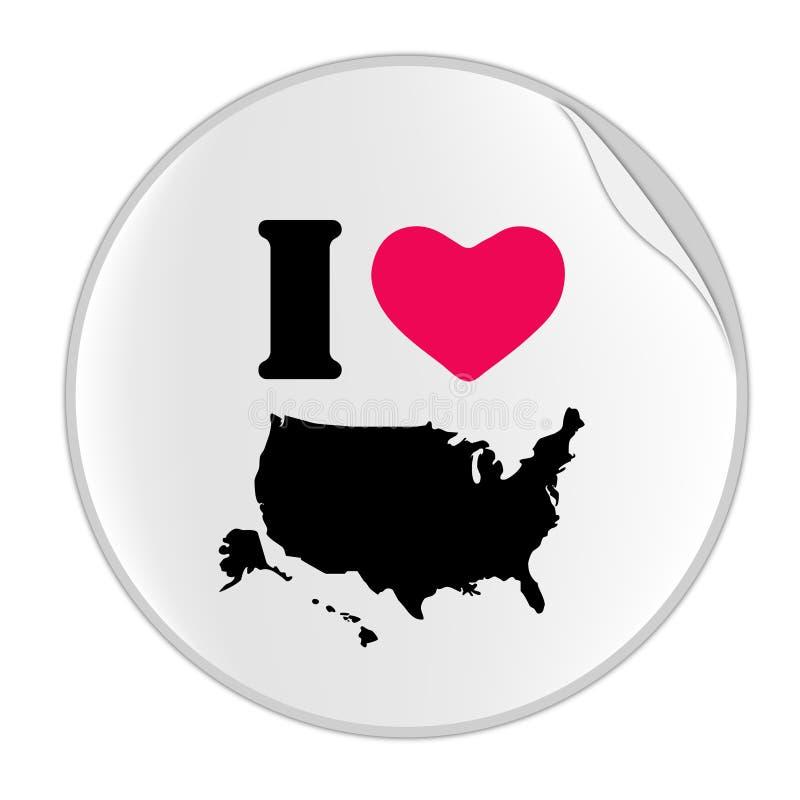 Love USA Sticker (STICKER SERIES) royalty free illustration