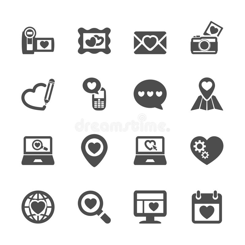 Love and valentine icon set 8, vector eps10 vector illustration