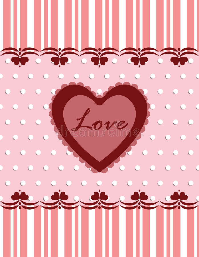 Love Valentine's day lace heart vector illustration