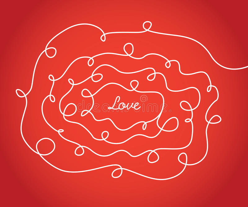 Download Love Valentine Sign With Scribbled Texture Stock Vector - Illustration of text, concept: 39511224