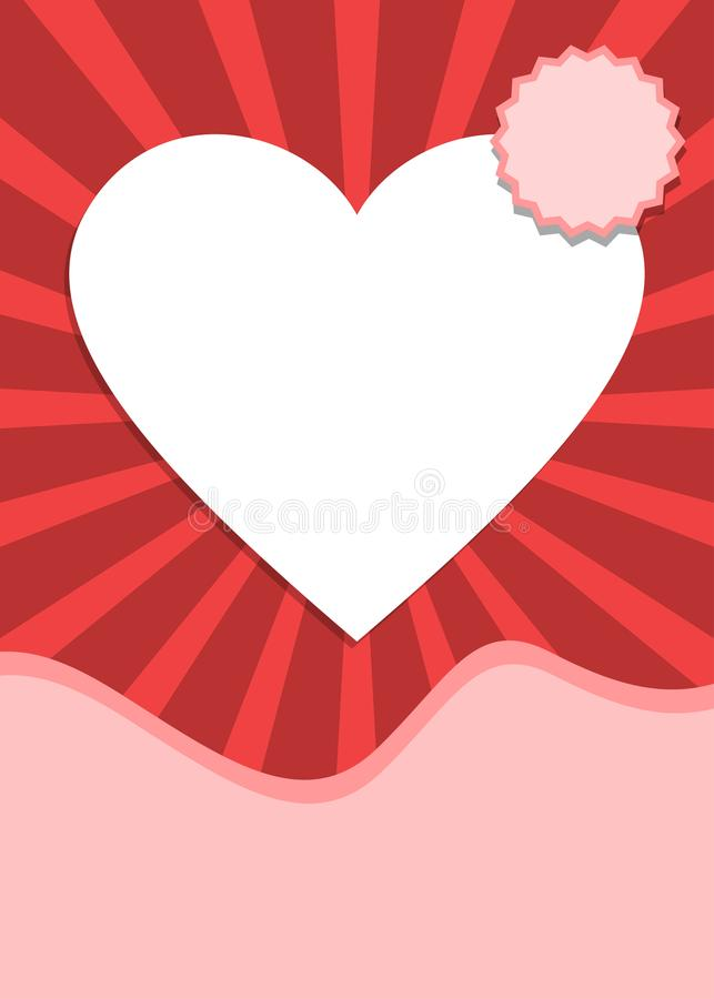 Love and valentines day banner with heart shape. Love and valentines day themed banner with heart shape stock illustration