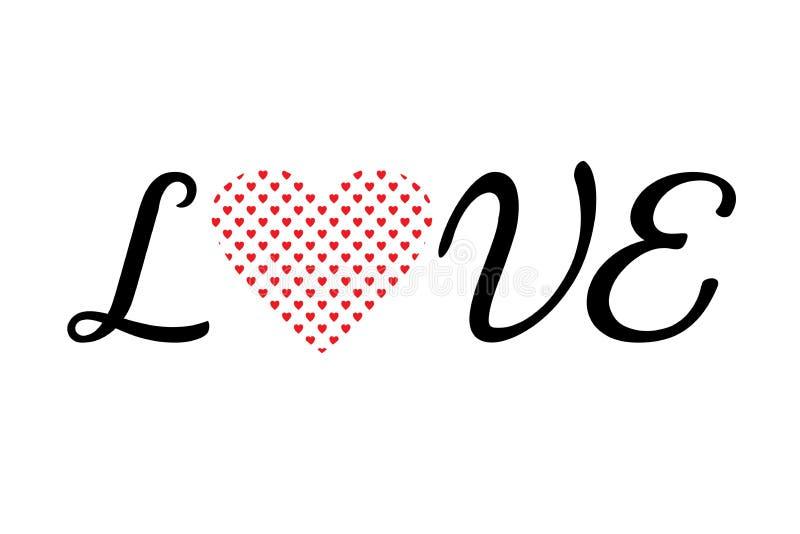 Love valentines days letter stock illustration