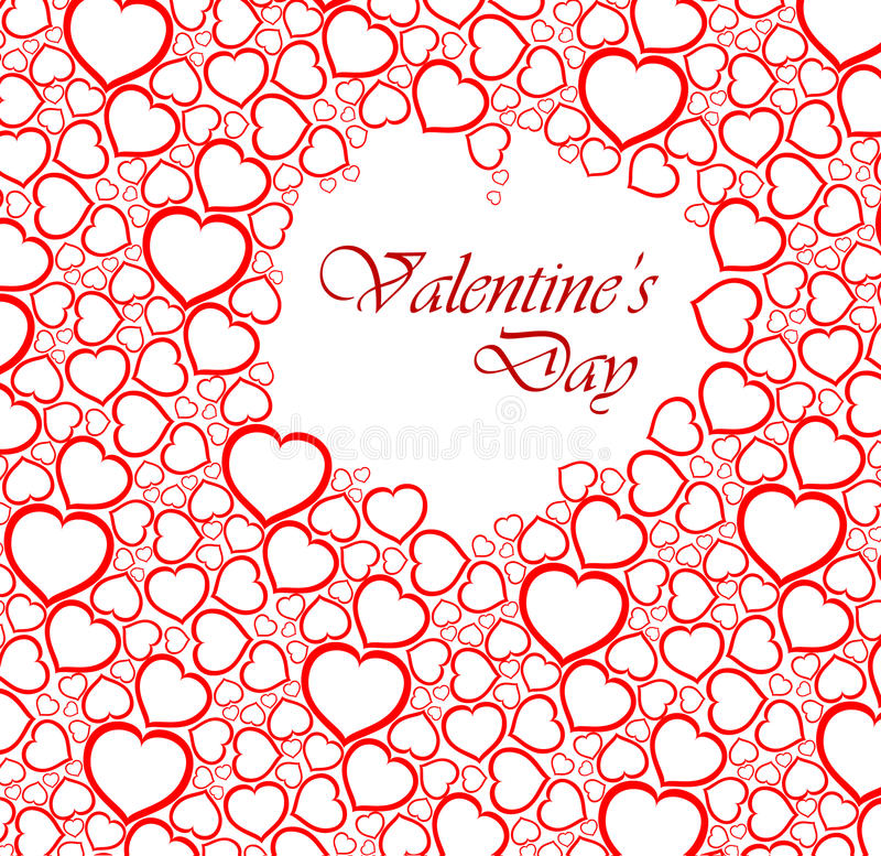 Love Vector Background Made From Red Hearts Royalty Free Stock Photography