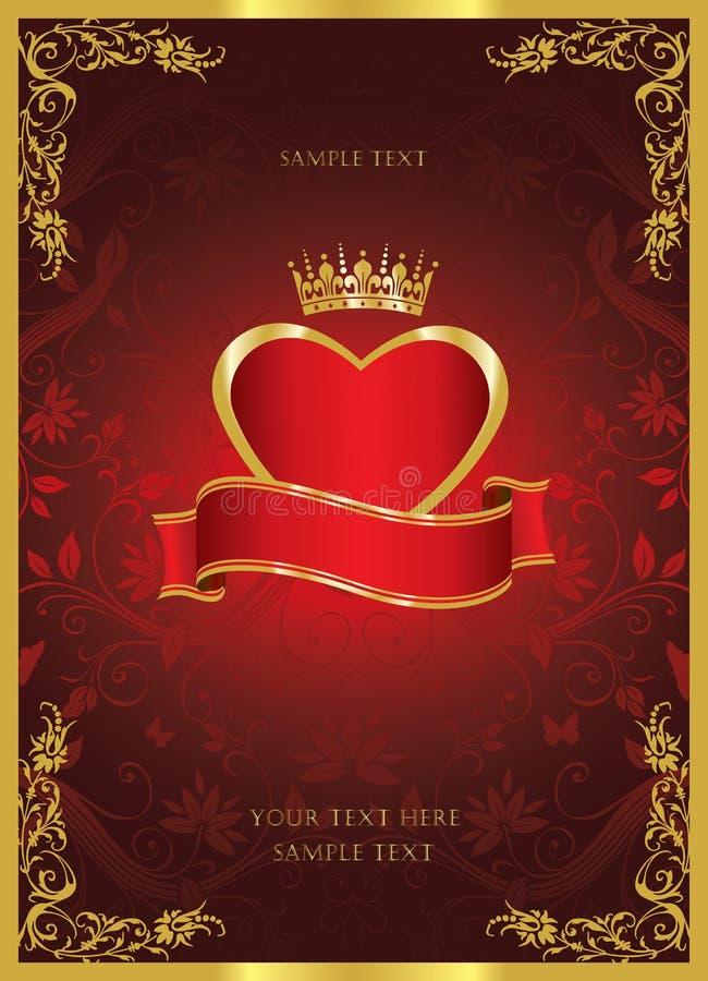Love vintage cover design stock illustration