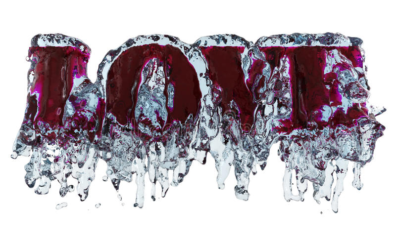 Download Love in water stock illustration. Image of free, splashes - 23635450