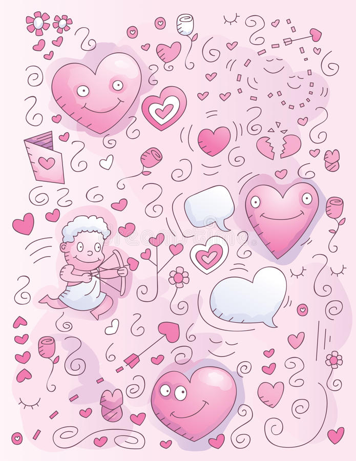 Love Watercolor Doodle