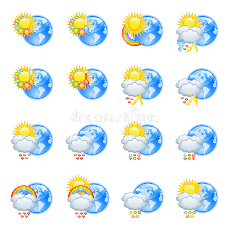 Download Love Weather Icons Stock Images - Image: 25135784