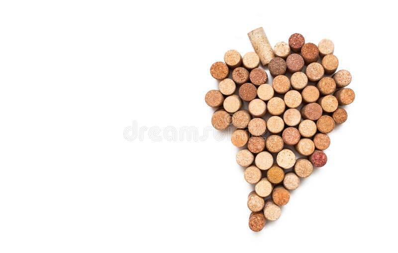Love for wine. Wine cork heart symbol royalty free stock image