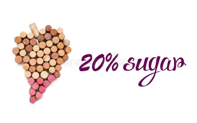 Love for wine. Wine cork heart symbol royalty free stock photography