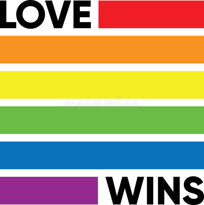 LOVE WINS stock photography