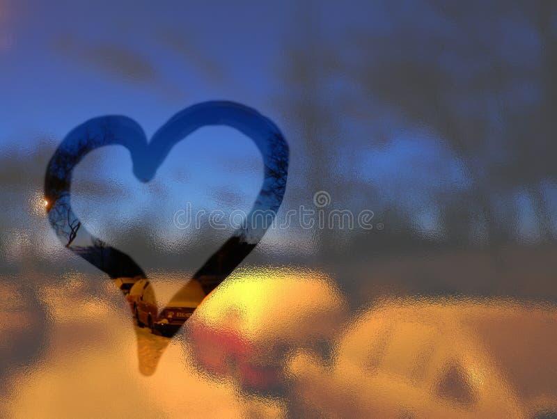 Love in winter stock image