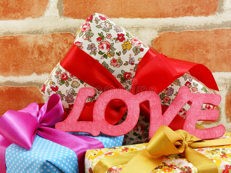 Love word background valentine`s day concept. Love word and decorated background valentine`s day concept stock photo