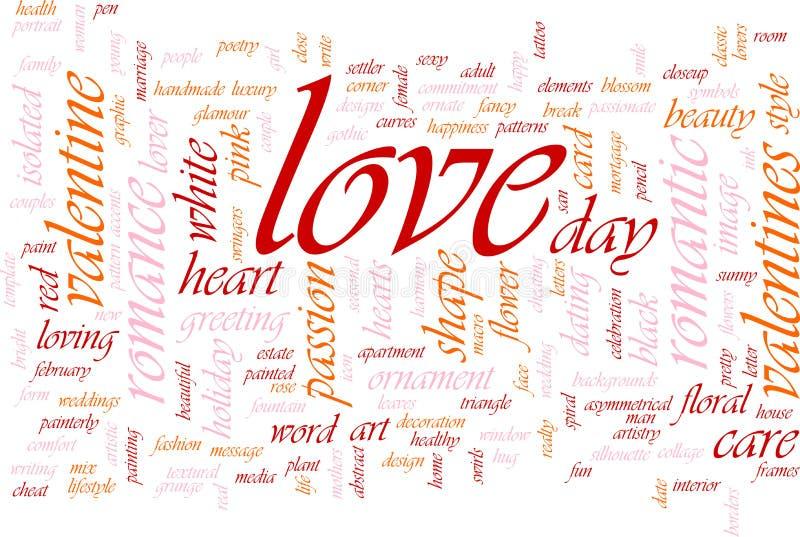 Love word cloud royalty free illustration