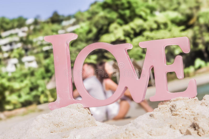 Download Love Word On Tropical Background Beach Wedding Concept Stock Photo Image Of Love
