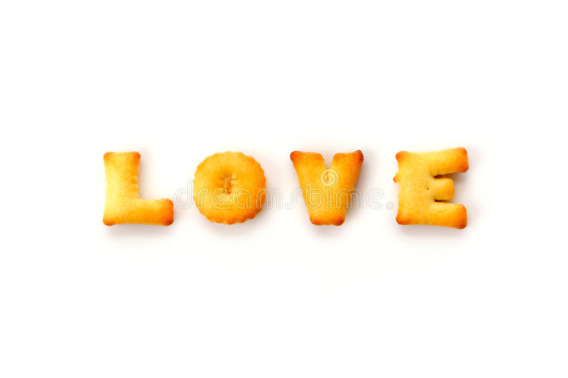 Love wording. By a b c biscuit stock images