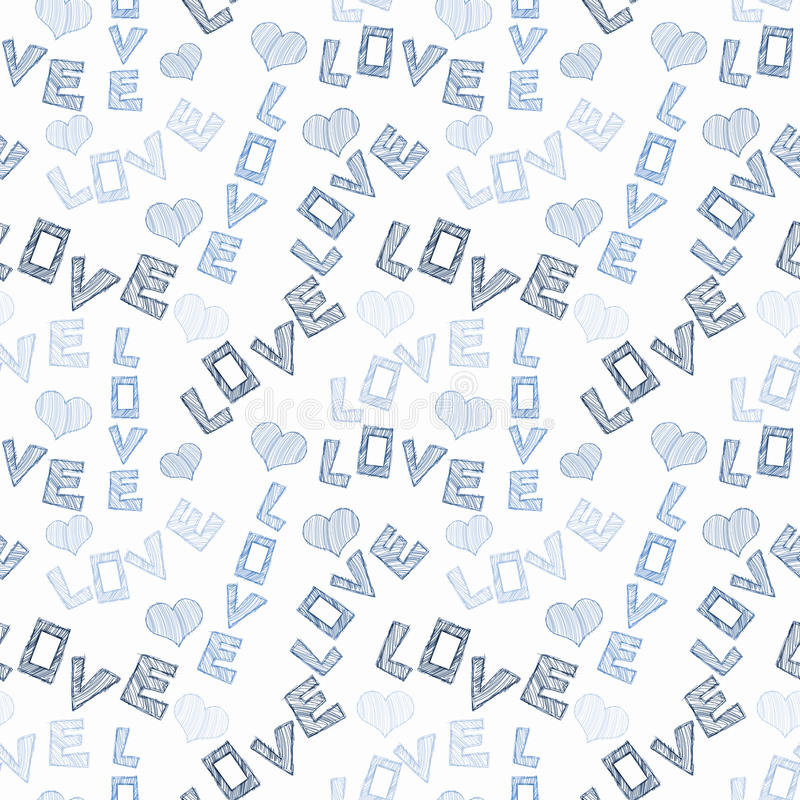 Download Love Words And Hearts Seamless Texture Stock Illustration - Illustration of girlfriends, clipart: 92465988