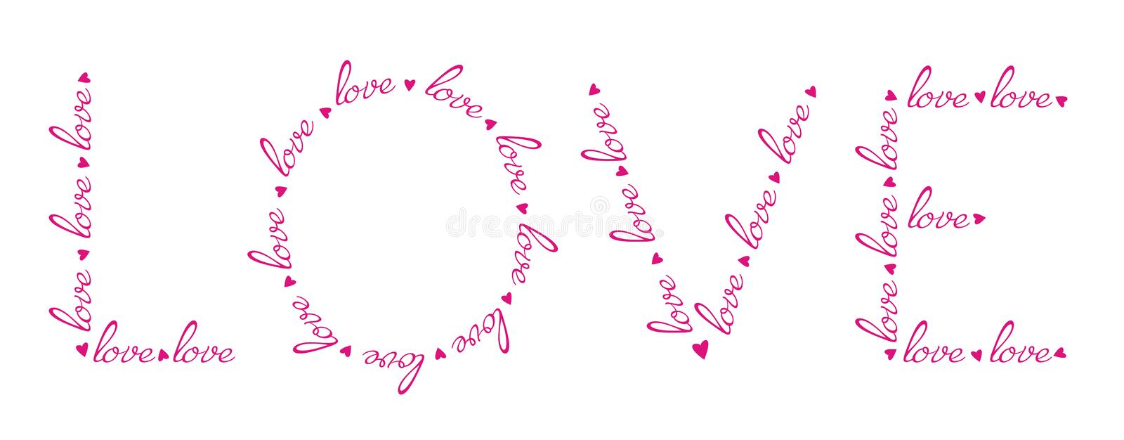 Download Love Words In The Love Word. Stock Vector - Image: 23146900