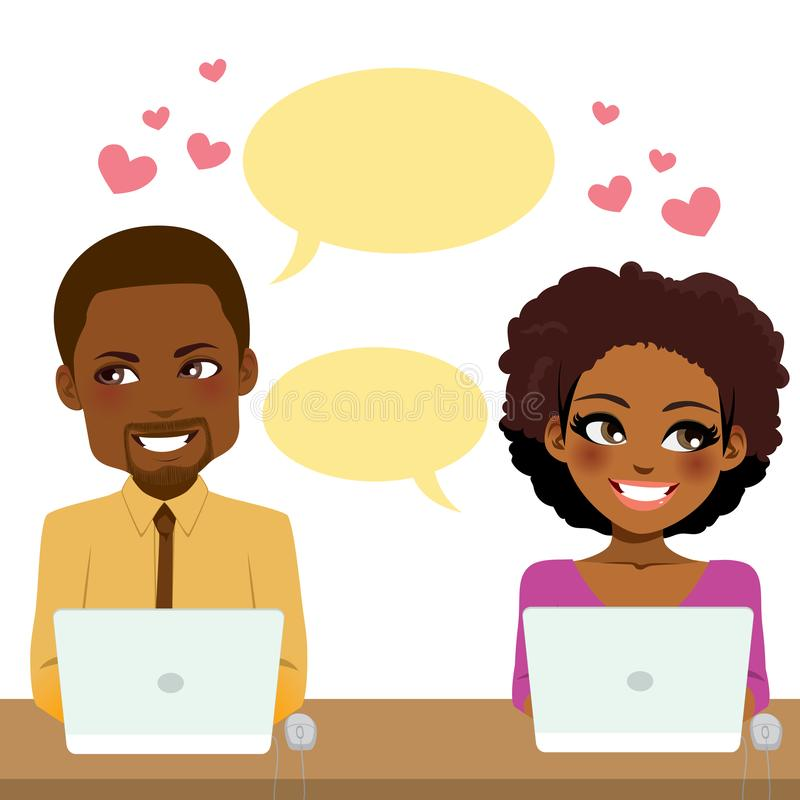 Love Work Couple vector illustration