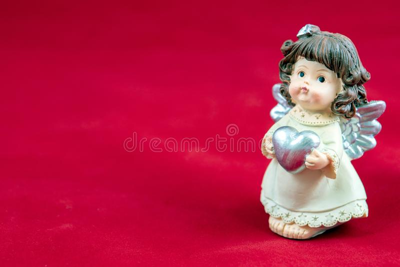 Love works wonders. Hearts on the background can be used for any purpose. Happy Valentine`s day stock images