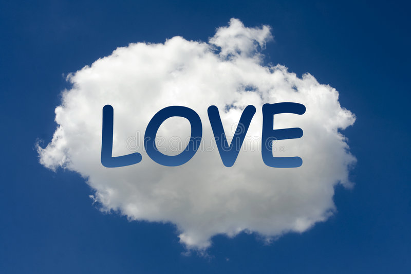 Download LOVE written on cloud stock photo. Image of composition - 6166088